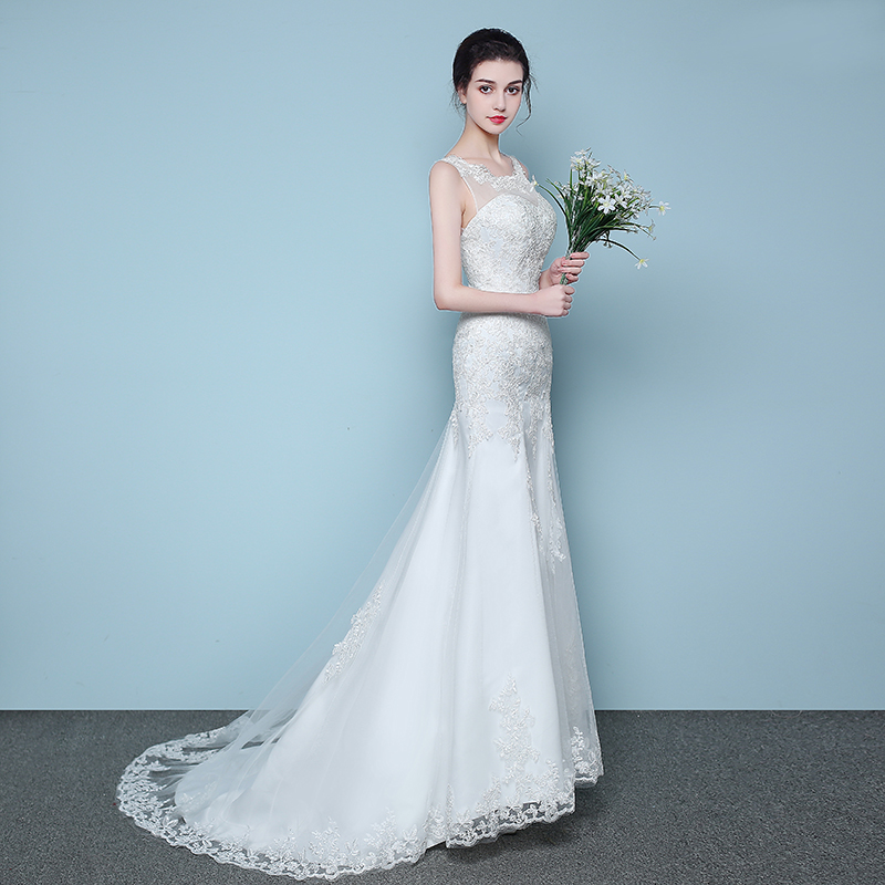 Elegant and conservative beautiful lace mermaid wedding dress 2018 elegant and conservative beautiful lace mermaid wedding dress 2018 simple cheap vestidos de noiva robe de mariage bridal dress in wedding dresses from junglespirit Choice Image