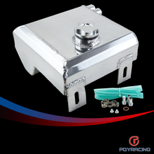 PQY RACING-2L Aluminum alloy polished radiator overflow surge tank&oil tank can PQY-TK04