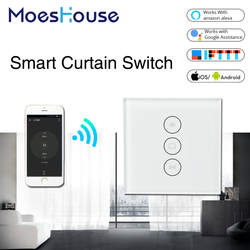 Wi Fi умная штора переключатель Smart Life туя для Электрический моторизованный занавес слепой рольставни работает с Alexa и Google дома