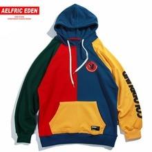 Aelfric Eden Hoodies Men Vintage Color Block Harajuku Streetwear Hip Hop 2018 Autumn Male Fashion Casual Hoodie Sweatshirts Mt11