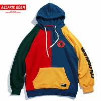 Aelfric Eden Hoodies Men Vintage Color Block Harajuku Streetwear Hip Hop 2018 Autumn Male Fashion Casual Hoodie Sweatshirts Mt11