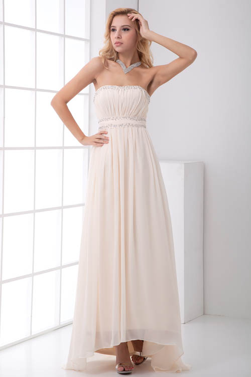 Sexy Backless Sweetheart Chiffon Long Bridesmaid Dresses 2018 Beaded