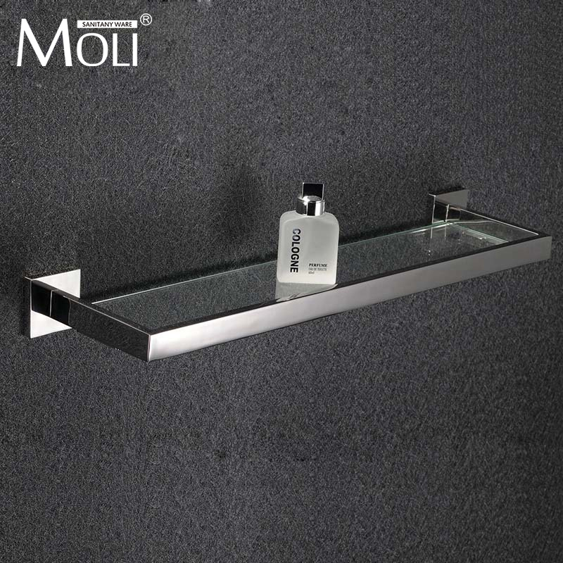 Mensole Di Vetro Per Bagno.Bagno Mensola Di Vetro Quadrato In Acciaio Inox Lucido Accessori