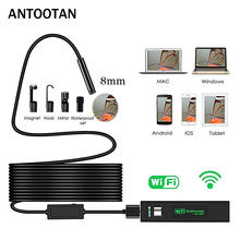 8mm 1200P 2M 5M 10M Semi-Rigied Wifi Endoscope Inspection Borescope Snake Video Flexible Camera For IOS Android Car Detection 1m 2m 3 5m 5m cable ios android wifi endoscope with 8mm len ip67 waterproof ios endoscope snake inspection borescope camera