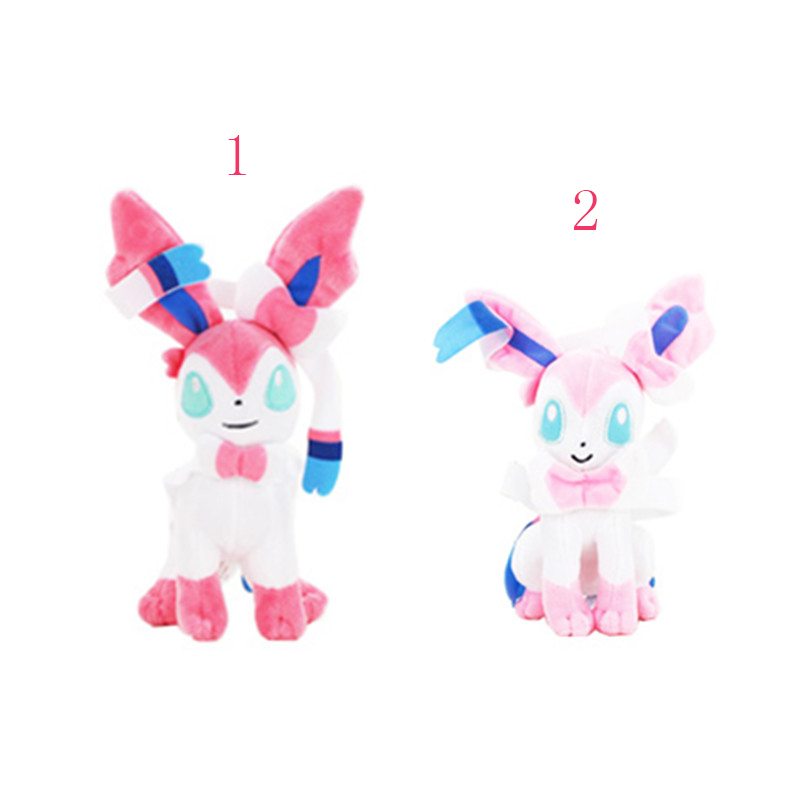22cm Sylveon cute beautiful plush doll toy Eevee family member Hot Japanese Anime Action Figure Doll Toy soft stuffed doll toy стоимость