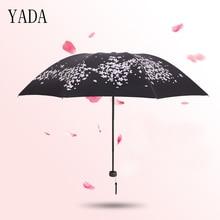YADA Custom Charm Folding Cherry Blossoms Umbrella Rain Women uv High Quality For brand Windproof Umbrellas YS290