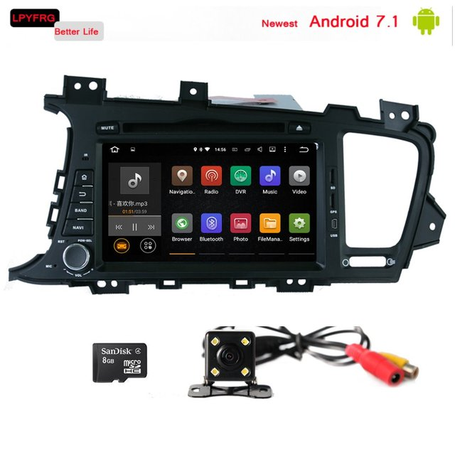 GPS Navi Android7 1 2Din Car Stereo DVD CD Player In Dash BT Radio 4G Wifi+Cam