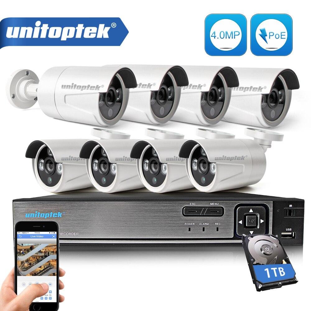8CH POE NVR комплект 48 В Мощность CCTV Камера Системы Onvif P2P 4MP HD H.265 IP Камера POE Открытый безопасности видеонаблюдения Системы