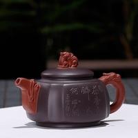 80ML small Purple sand yixing teapot raw ore kung fu kettle drinkware suit black tea