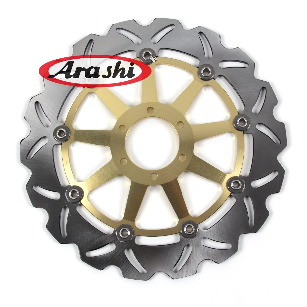 ARASHI Floating CNC Front Brake Disc Brake Rotors For MOTO GUZZI BRAVA GRISO DAYTONA V10 BREVA GRISO V11 NORGE 850 1000 6mm motorbike body work fairing bolts screwse for moto guzzi griso breva 1100 1200 gt8v 1200 sport kawasaki zx9r z1000sx z750