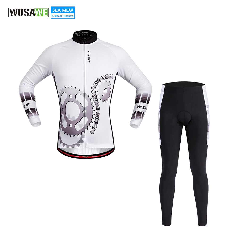 WOSAWE 2017 Downhill cycling Jersey LONG SLEEVE clothing MTB wear Breathable Mountain Bike riding clothes Maillot de descenso