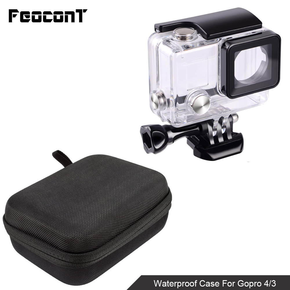 Image 2 - Waterproof Camera Housing Case Small Storage Box Hard Bag For Gopro Hero 6 5 4 3 3+ 5 Session Underwater Protector Case Cover-in Sports Camcorder Cases from Consumer Electronics