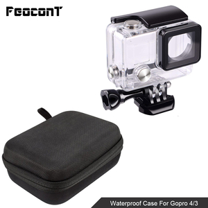 Image 2 - Waterproof Camera Housing Case Small Storage Box Hard Bag For Gopro Hero 6 5 4 3 3+ 5 Session Underwater Protector Case Cover