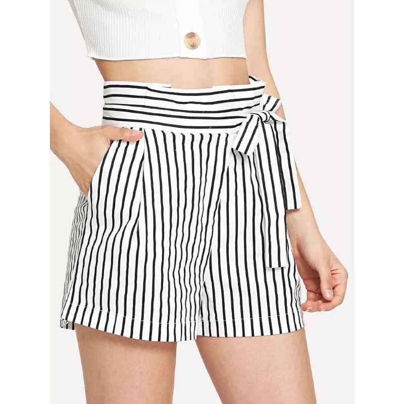 Women Hot Summer Shorts Casual Loose Shorts Elastic Waist