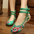 High Quality Old Peking Shoes Women's Embroidery Shoes Soft Sole Hibiscus Design Casual Shoes Women Dancing Shoes