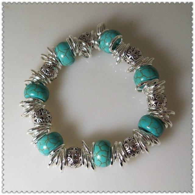 Turquoise Beaded Bracelet Fashion Jewelry