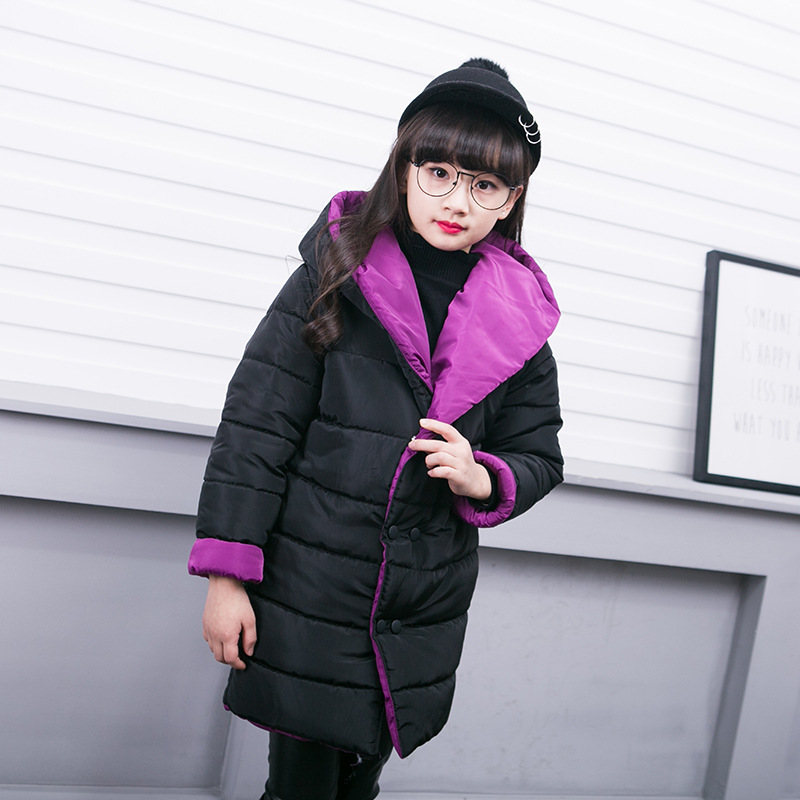 Big Girls Winter Down Parka Kids Duck Down Goose Down Jacket Warm ...