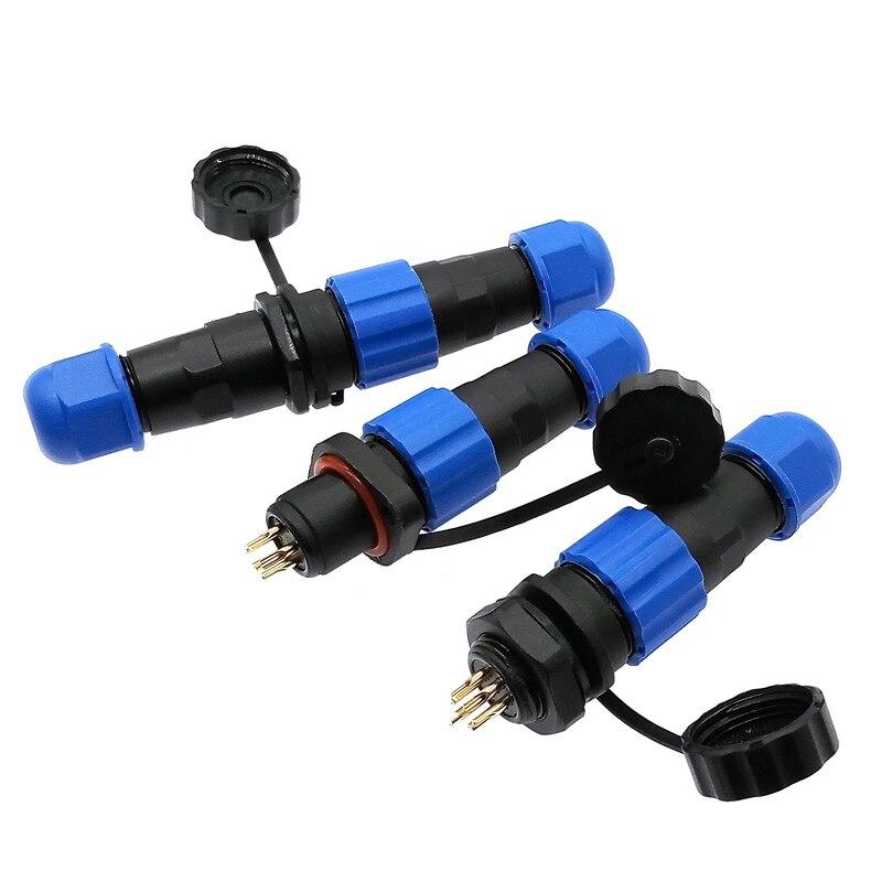 Waterproof connector IP68 SP13 2 Pin 3pin 4pin 5pin 6pin 7pi