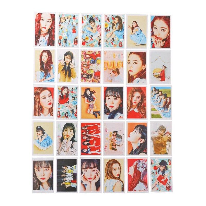 30pcs//set Red Velvet Album LOMO Cards K-POP Photo Card Made Paper New Fashion Self HD Photocard
