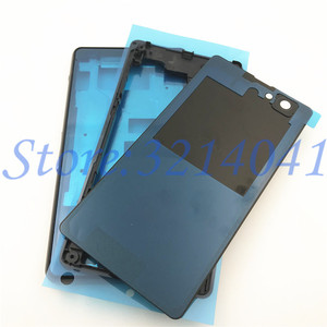 Image 2 - Original Front Middle Frame Port Plug Cover Back Battery Cover For Sony Xperia Z1 Compact mini D5503 Full Housing