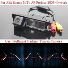 Автомобиль Интеллектуальные Парковка Треки Камеры ДЛЯ Alfa Romeo MiTo AR Furiosa 2007 ~ Onwork/HD Резервного копирования Камера Заднего Вида/Камера Заднего вида