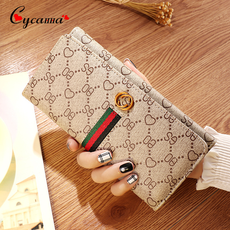 Women Wallet Purse-Money Fashion Coin-Card-Holders Lovely Long Clasp Carteras Change
