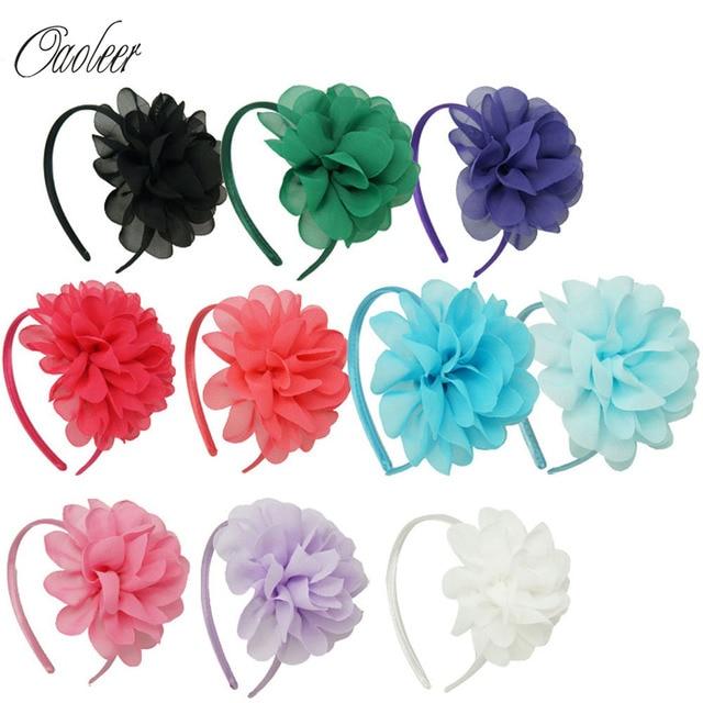 10pcs lot High Quality Chiffon Flower Hairband Headband Alice Band For Kids  Girls Handmade Headband Children Hair Accessories 4b377355cd0