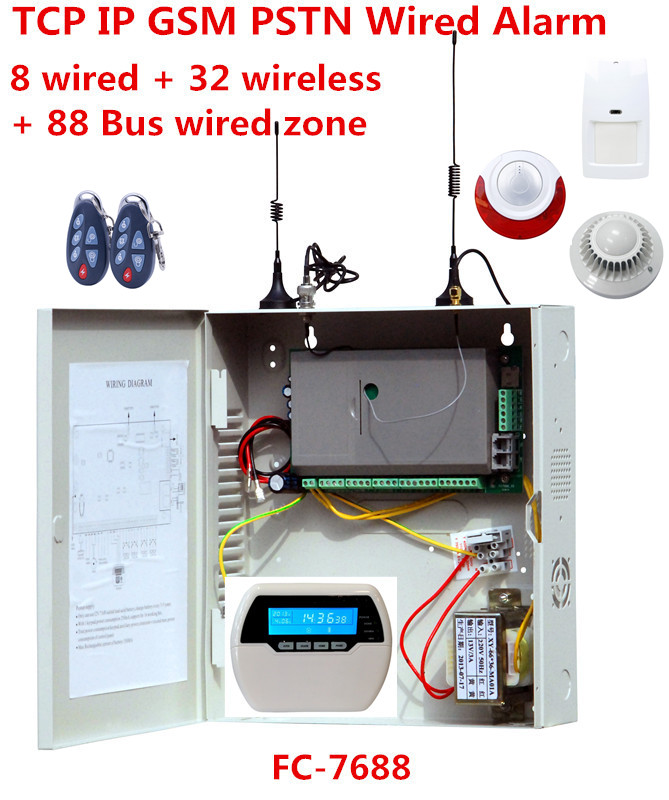 2019 Best Alarm Industrial Wired Alarm System TCP/IP GSM PSTN Alarm System With Seperately Zone Arm/disarm Function