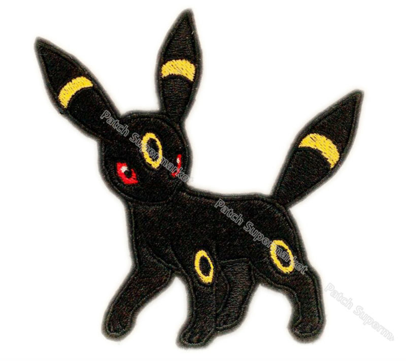 UMBREON POKEMON GO Pikachu Patch Game Movie TV Game Series Cosplay Costume Embroidered Emblem sew on