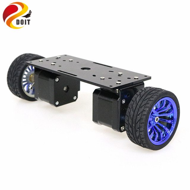 2wd Two Rounds of Self-balancing Stepper Motor Car Two-wheel Balancing Car Smart Car Chassis Kit
