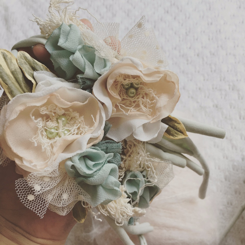 1pcs Headband With Flower Baby Girl Photo Shoot Newborn Photography Props Accessories For Studio