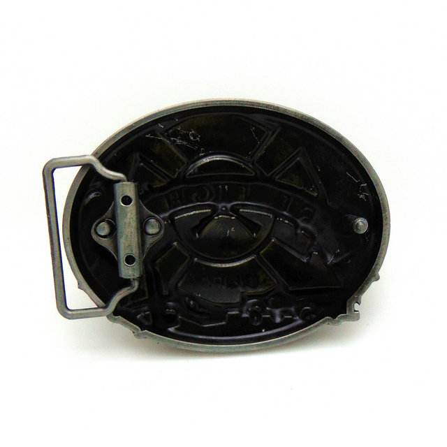 FIRE FIGHTER 2017 most popular western zinc alloy product belt buckle for 4.0