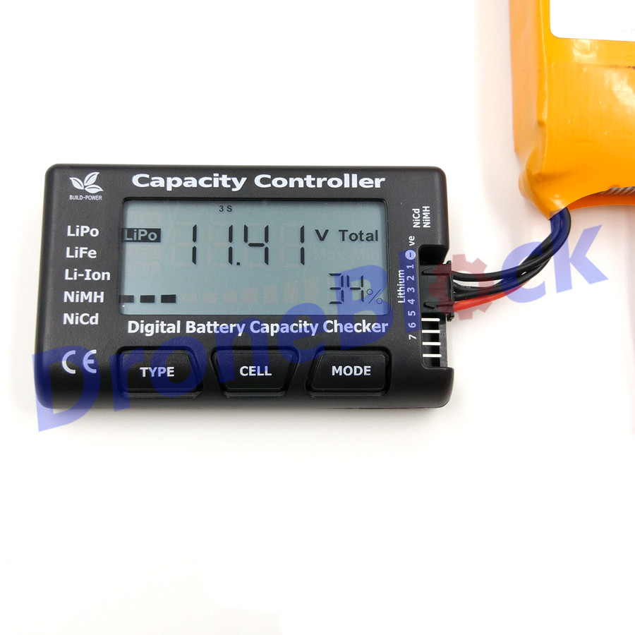 Cell Meter7 2-7S Digital Battery Capacity Checker Voltage Meter Health Checker Cellmeter-7 For LiPo/LiFe/Li-ion/NiMH/Nicd