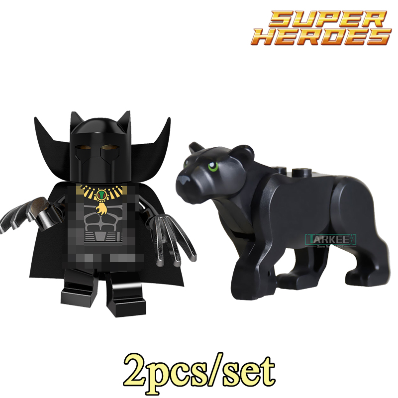 PG371 Building Blocks Black Panthers Marvel Super Hero Star Wars Set Action Bricks Dolls Children Kids Toys Hobbies DIY Figures building blocks agent uma thurman peeta dc marvel super hero star wars action bricks dolls kids diy toys hobbies kl069 figures