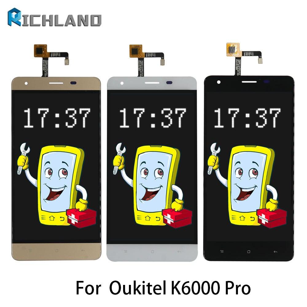 LCD d'origine Pour Oukitel K6000 Pro LCD Affichage à L'écran Tactile Digitizer Assemblée Mobile Téléphone LCD Remplacer Les pièces