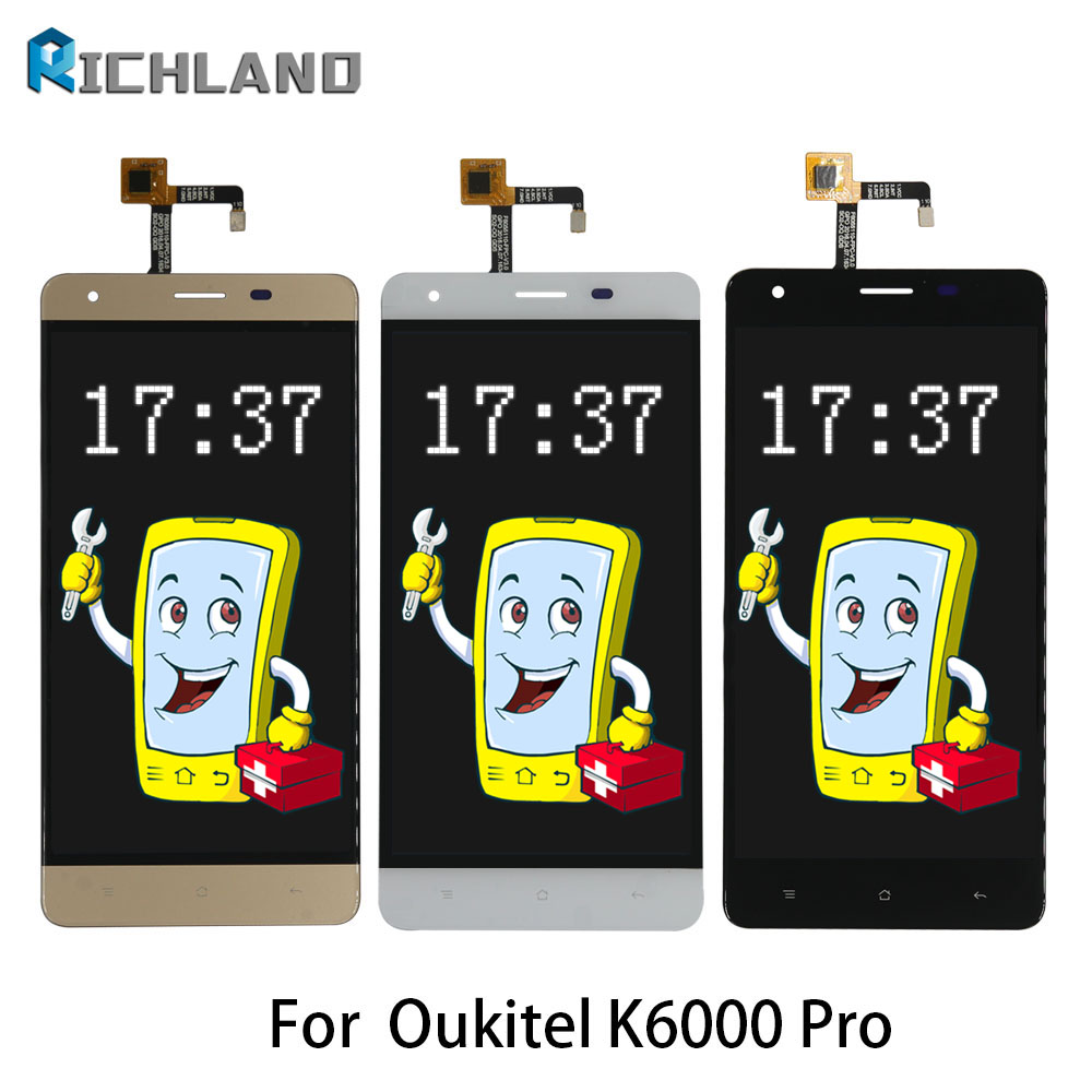 Original LCD For Oukitel K6000 Pro LCD Display Touch Screen Digitizer Assembly Mobile Phone LCDS Replace Parts