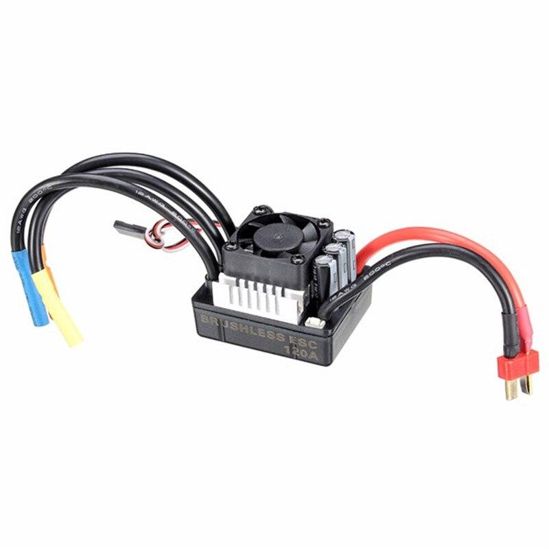 Racerstar 120a ESC brushless impermeable sin sensor 1/8 RC remoto Radios piezas del coche