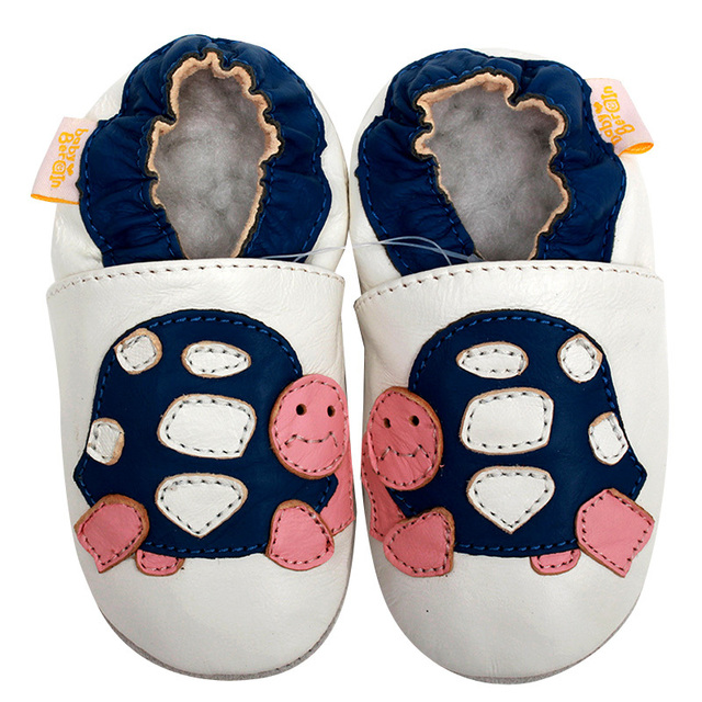 Leather Baby Shoes Girls Turtle Pattern First Walkers Baby Girl Shoes Slipper Baby Moccasins Kids Shoes Infant Non-slip 0-4y