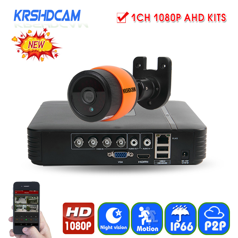 KRSHDCAM 1CH CCTV System 1080N 5in1 AHD DVR AHD Camera 1080P 3000TVL IR Waterproof Outdoor Security Home Video Surveillance kit cnhidee home security camera system nightvision ahd 8ch 720p ir 1200tvl dvr hd kit video surveillance system 8ch outdoor kit set