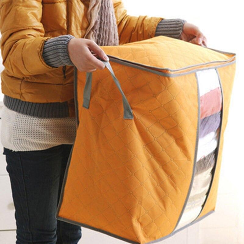 Large Waterproof Quilt Storage Box Non-woven Fabric Folding Organizer Clothes Storage Box  Organizer Quilt Storage Box Basket