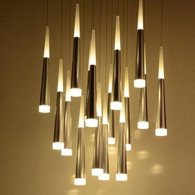 Moderne LED Pendelleuchte Küche Metall Leuchte Mode wohnzimmer ...