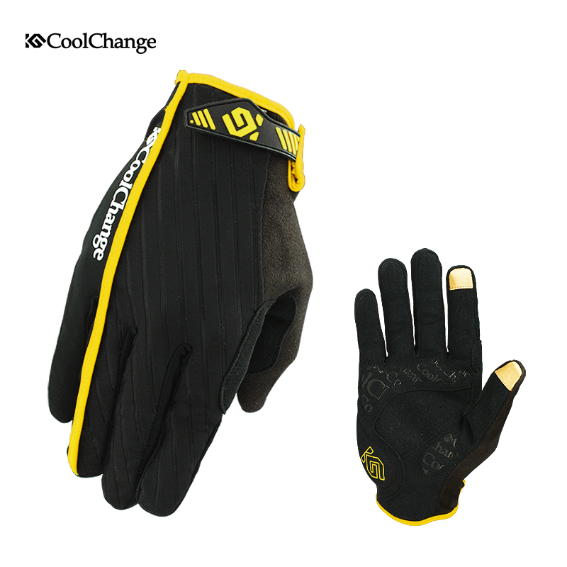 Coolchange Bicycle Touch Screen Gloves Outdoor Sports Breathable Vibration Isolation Bike Cycling Gloves For Men And Women