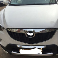 For Car Styling Mazda CX 5 2012 2013 Automobile ABS Chrome Front Grille Covers Rear Trunk