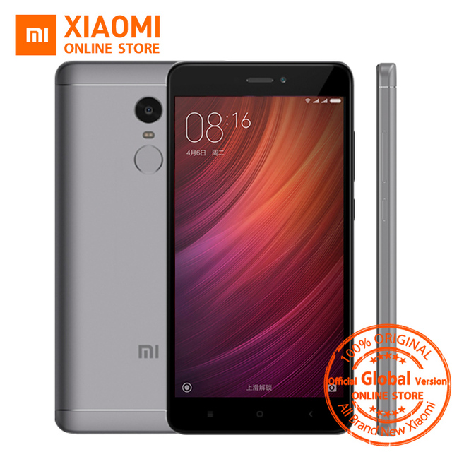 "Глобальная версия Xiaomi Redmi Note 4 Qualcomm 4 ГБ 64 ГБ Смартфон Snapdragon 625 Octa Core 5.5 ""1080 P 13.0MP 4100 мАч MIUI 8.5 OTA"