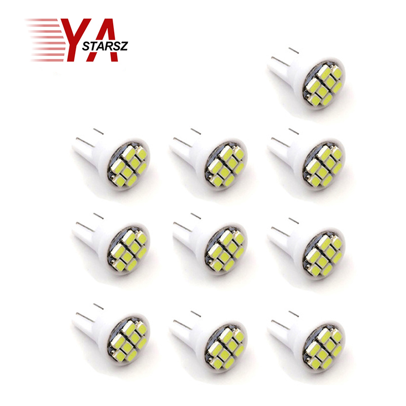 10 pieces of LED T10 8 smd 1206 8leds 8SMD car interior lights 194 168 192 W5W 3020 lights inside led lights light bulbs white 194 168 5050 w5w t10 5 smd white led light bulbs replacement for interior dome map dashboard lights lamp exterior license