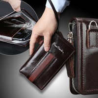 Pierre Cardin Casual Reticule Bag Man Bag Genuine Leather Pouch Bag Strap For Samsung Galaxy Note 9 Case Mobile Phone Case Cover
