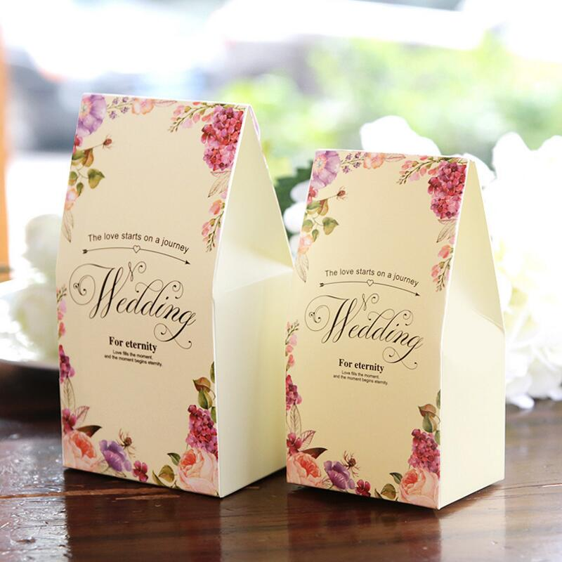 20pcs Lot Wedding Personalized Gift Box Paper Bags Small Candy Bo Party Favor Decor In Wring Supplies From Home Garden On