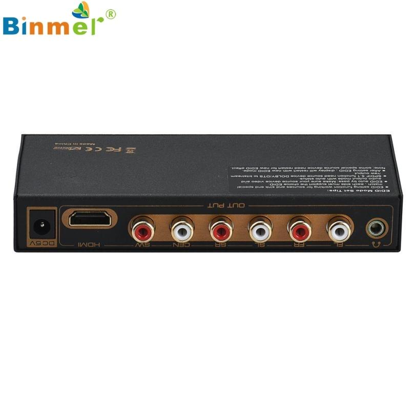 ФОТО Superior Quality HDMI to HDMI&Optical+6RCA+3.5mm Audio Extractor Splitter 5.1 Audio Decoder black Jan22