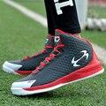 Hombres Zapatos Casuales de Alta Superior Canasta Femme Transpirable PU Zapatos Planos Del Deporte Entrenadores Zapatillas Hombre Zapatos Para Caminar de Cuero Rojo Negro