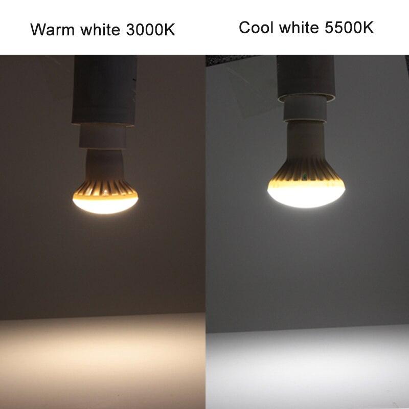 Купить с кэшбэком ampoule led spotlight Umbrella bulb E27 E14 R39 R50 R63 R80 5W 7w 9w 12w super lights 110v 220v energy saving lamp home lighting